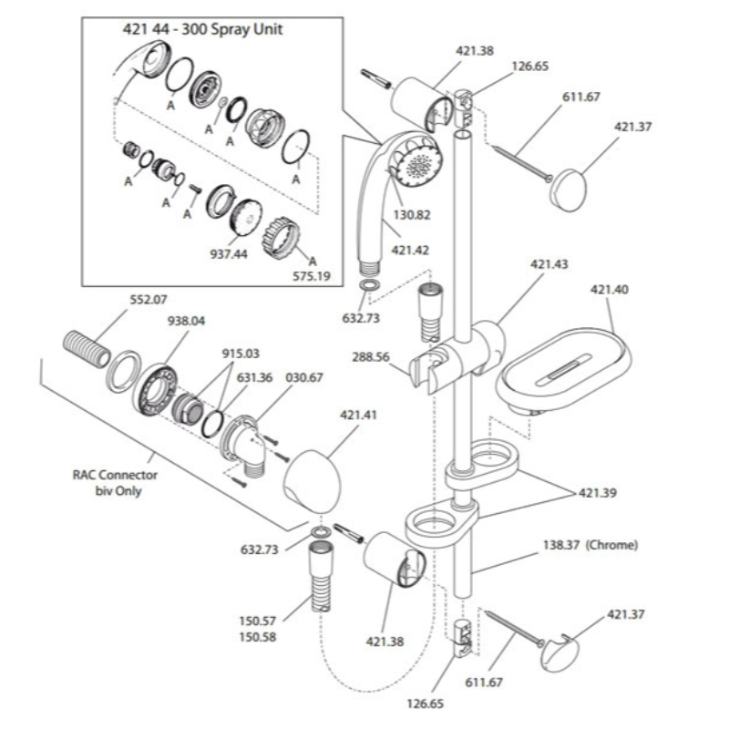 Mira Reflex (ev & biv) Shower Fittings (L87A)