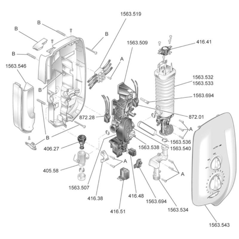 Mira Sport Thermostatic (J95E/F) Parts
