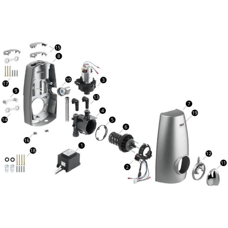 Aqualisa Aquastream Power Shower Parts and Spares - The Shower Doctors