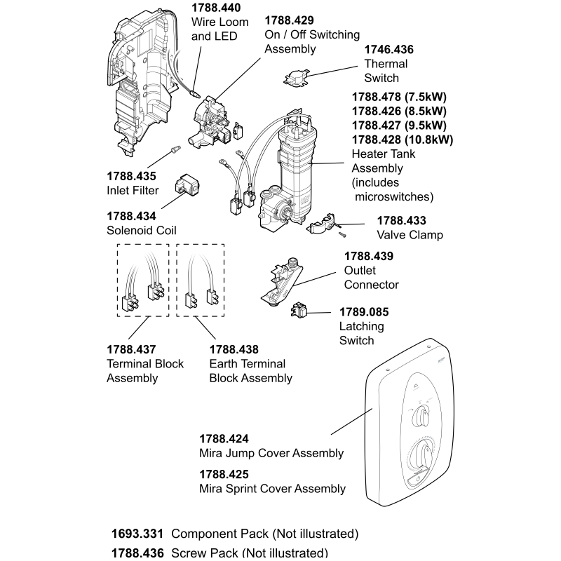Mira Jump Multi-Fit Parts and Spares - The Shower Doctors