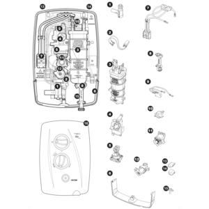 Triton T80Z Electric Shower (Fast-Fit) Parts and Spares - The Shower Doctors